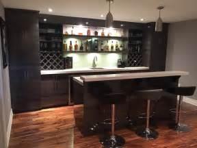 Home Bar Kitchen High Gloss Modern Basement Bar Modern Home Bar