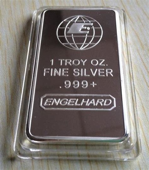 1 Troy Oz Silver Bar - bullion bars engelhard 1 troy oz 999 silver bar