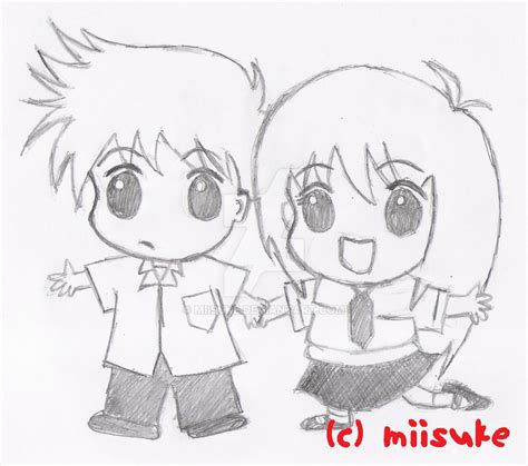 Chibi Boy And Girl By Miisuke On Deviantart How To Draw Chibi Boy