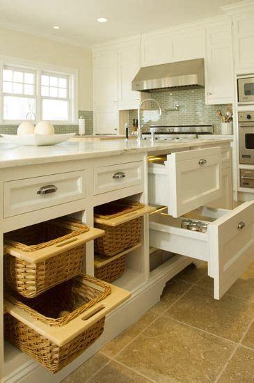 Kitchen Cabinet Baskets Bakes And Company Kitchen With Floor To Ceiling White Shaker Cabinets Paired With Marble