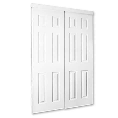 Closet Doors At Lowes White Molded Sliding Closet Door Lowe S Canada