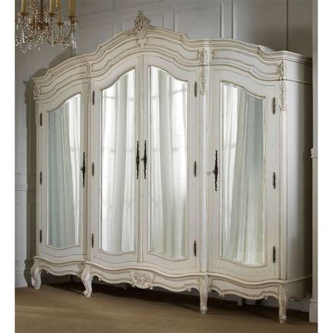 White Clothing Armoire La Rochelle 4 Door Antique Wardrobe The Most