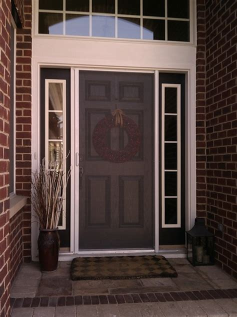 Screen Door For Front Door Mirage Retractable Door Screens Entry Doors