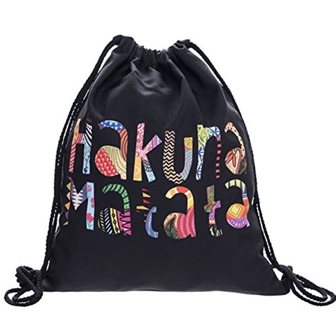 Print Travel Drawstring Bag packable print drawstring bags lightweight travel backpack