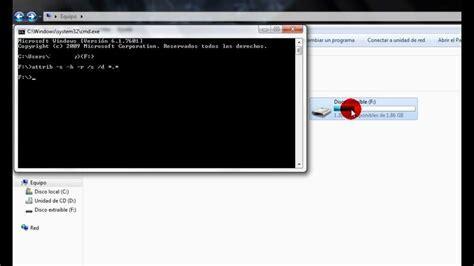 fb youtube virus como eliminar el virus recycler y recuperar archivos