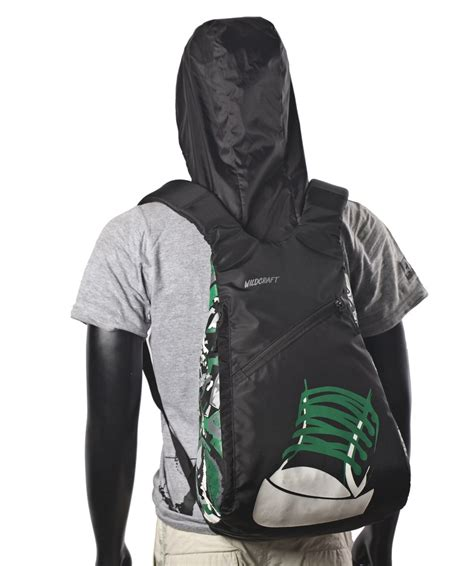 Hodie Backpacker wildcraft hoodie backpack green black
