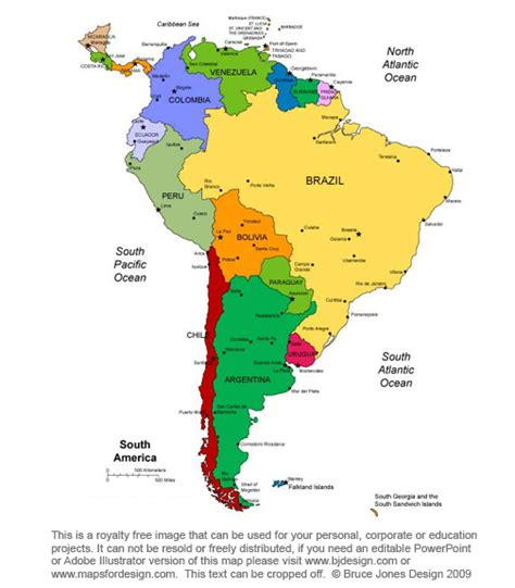 printable maps of south america blank map of south america color