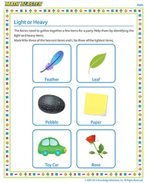 heavy and light lesson plan kindergarten image gallery heavy and light activities
