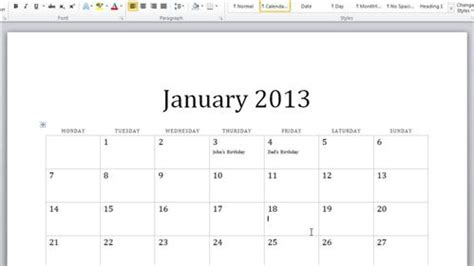 design a calendar in word how to create calendar in word howtech