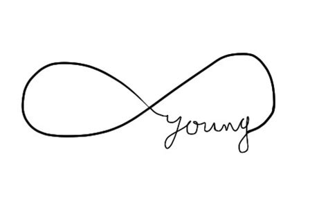 infinity tattoo forever young love is a losing game