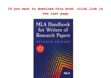 mla handbook for writers of research papers read mla handbook for writers of research papers mla