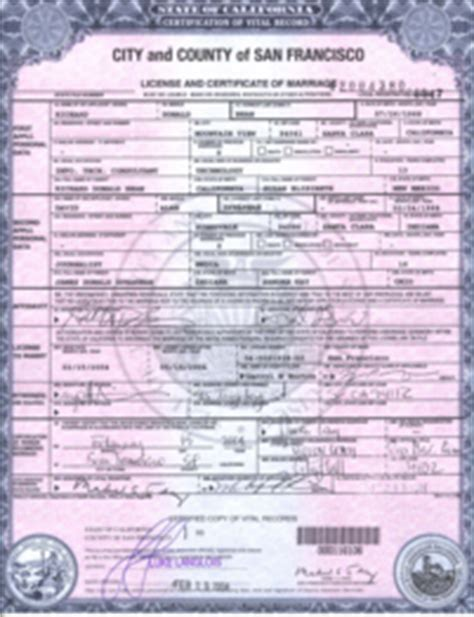 Record Of Marriage License Certified Marriage Records Officiant Eric