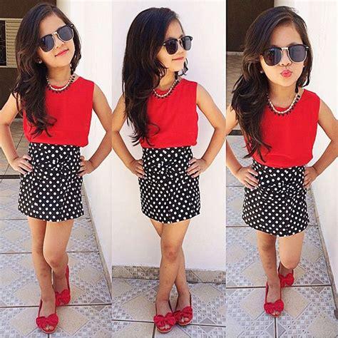 H Set Bibie Polka Kid new 2016 summer children clothing polka dot dress