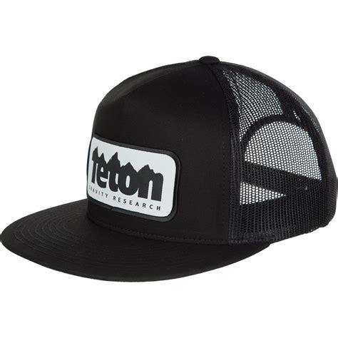 Topi Hat Trucker The Black teton gravity research logo patch trucker hat backcountry