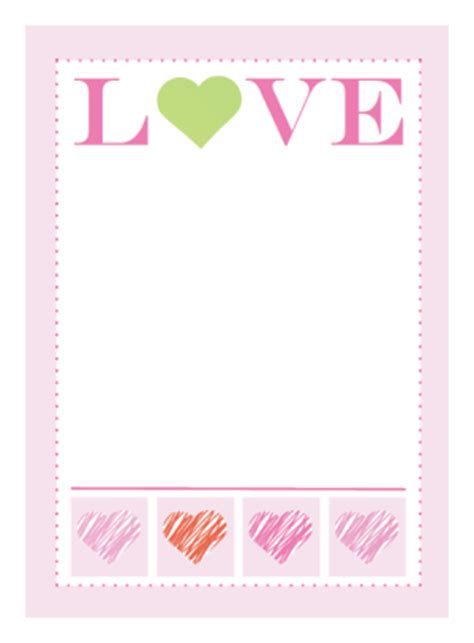 greeting card template printable free printable valentines and more