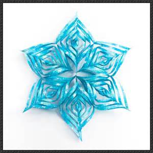3d snowflake template paper craft snowflake free template