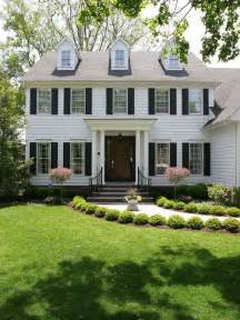 colonial home landscape houzz