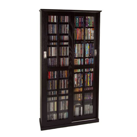 multimedia storage cabinet leslie dame multimedia storage cabinet espresso ms 700es