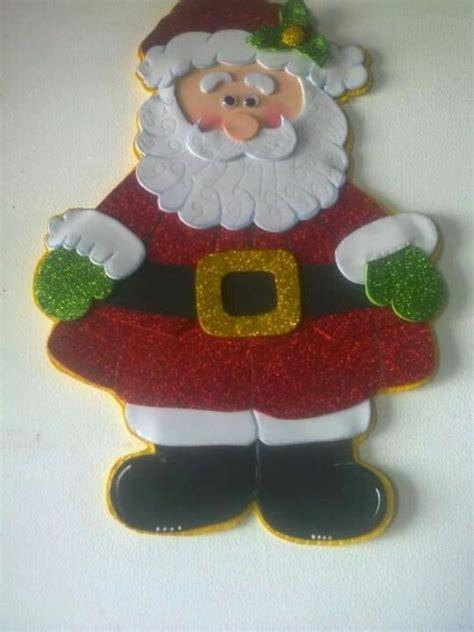 muecos de navidad en foami otro santa en foami navidad pinterest