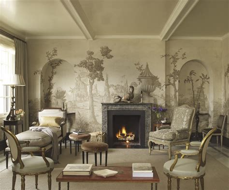 living room wall murals grisaille art wallpaper murals screens part i laurel