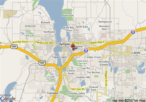 olympia washington map map of quality inn olympia olympia