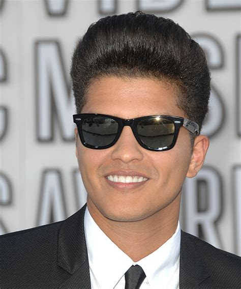 Bruno Mars Short Straight Formal Hairstyle