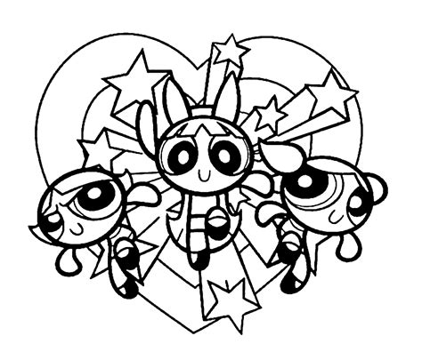 coloring pages hd power puff girls coloring pages download