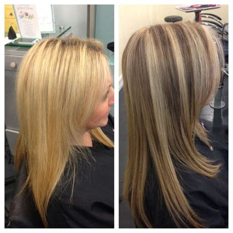 lowlighting hair after all blonde hair with lowlights before and after