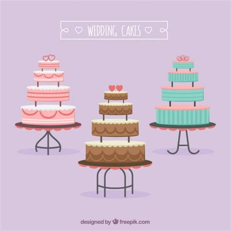 Wedding Cake Vector by Wedding Cakes Pack Vector Free