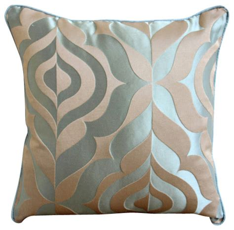 Decorative Pillows For The Homecentric Blue Jacquard Weave Vintage Damask Pillows