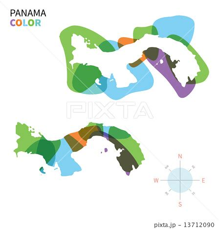 abstract vector color map of panama with transparent paint effect のイラスト素材 13712090 pixta