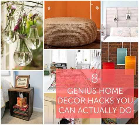 8 genius home decor hacks you can actually do