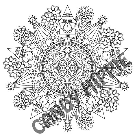 hippie mandala coloring pages the gnomes homes printable mandala coloring page by candy