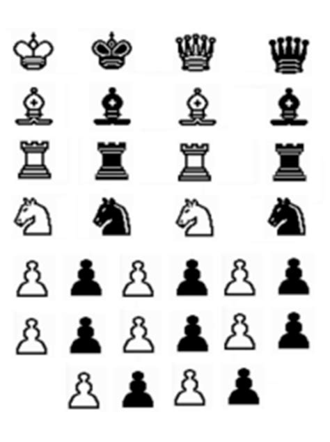 printable paper chess set print chess board clipart best