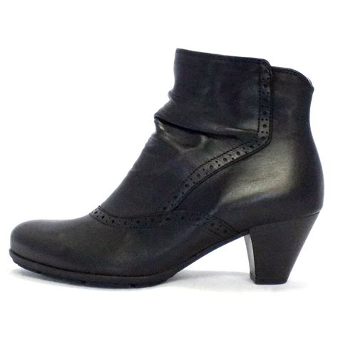 gabor boots pang ankle boot in black mozimo