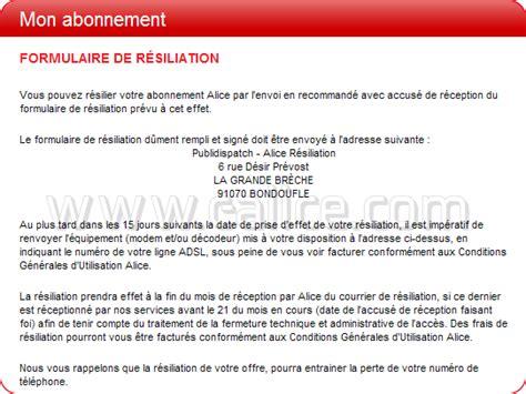 Lettre De Résiliation Freebox Lettre Resiliation Retour Modem Alicebox Et Decodeur Tv