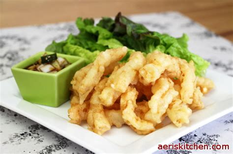 Aeris Kitchen by Lettuce Wrap Squid Twigim Aeri S Kitchen