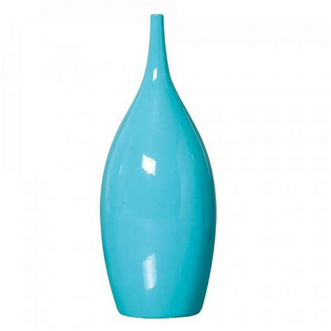 vaso ceramica vaso garrafa cool de cer 226 mica 29x11cm azul mazzotti