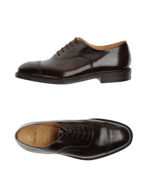 church s laced shoes in brown for lyst