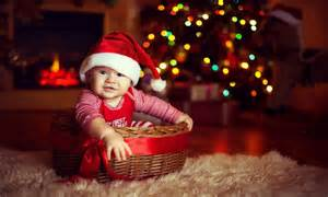 Cute baby wearing christmas cap 800 x 480 download close