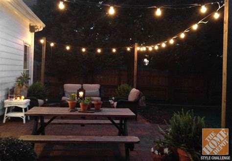 Hanging Patio Lights Ideas Hanging String Lights Outdoors