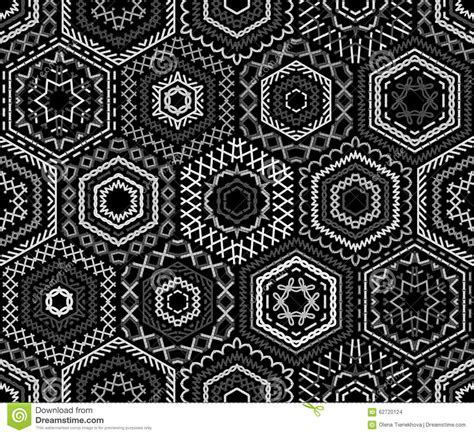 black and white embroidery patterns seamless black and white embroidery pattern stock vector