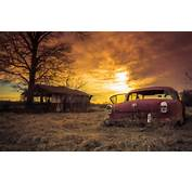 Wallpaper Abandoned Car Rusty Sliders Sunday Sunset Wallpapers