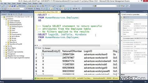 sql tutorial query multiple tables query a table with select
