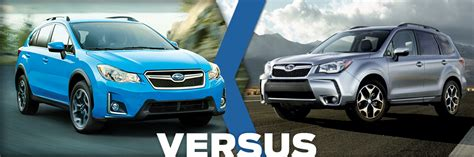 compare subaru forester models 2016 subaru crosstrek vs forester model comparison vs