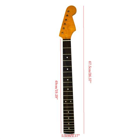22fret Tiger Electric Guitar Neck For St Part Rosewood Maple Smo 22fret tiger electric guitar neck for st part smooth