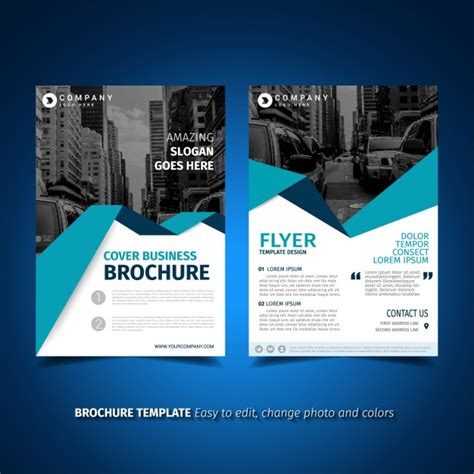 flyer and brochure templates flyer template design vector free