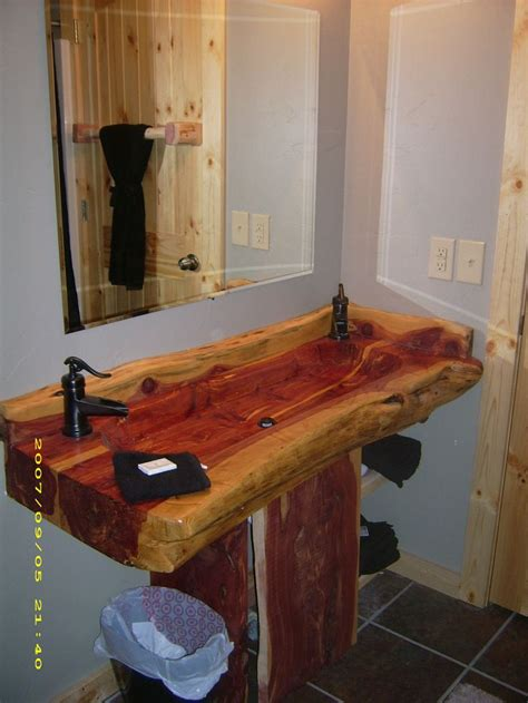 double wide bathroom sink 17 best images about wooden sink on pinterest outdoor