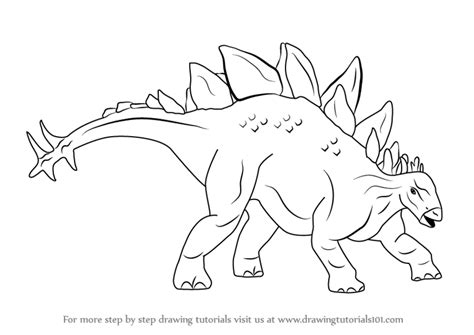 Drawing Dinosaurs by Learn How To Draw Stegosaurus Dinosaur Dinosaurs Step By