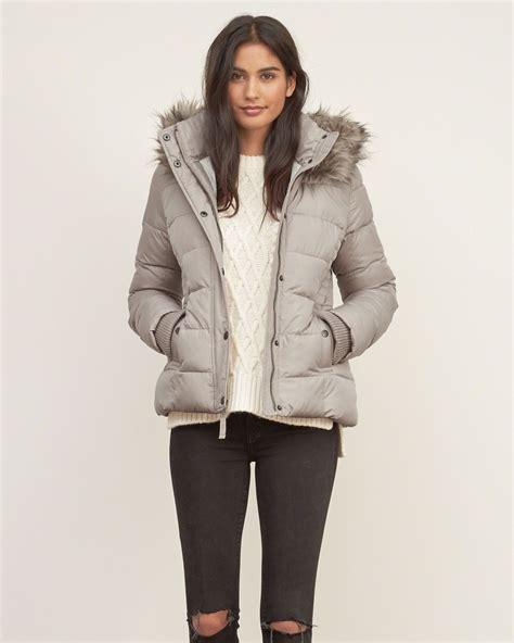Hollister Puff Jacket womens a f premium puffer jacket womens outerwear